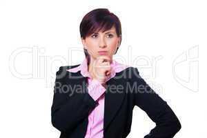 Geschäftsfrau hat einen Einfall