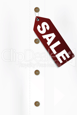 Shirt With Sale Tag