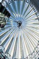 propellerblade roof in sony center postdamer platz berlin german