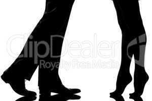 detail legs feet couple man and woman lovers teenderness