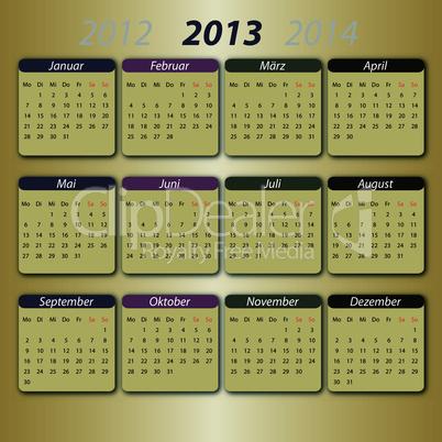 Kalender 2013 deutsch