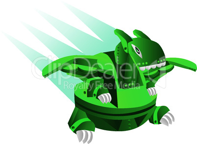 illustration cartoon robot - dinosaur toy