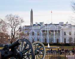 Civil war cannons at White House