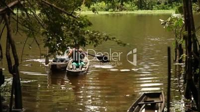 Kayak auf Amazonas