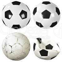 Set of soccer balls