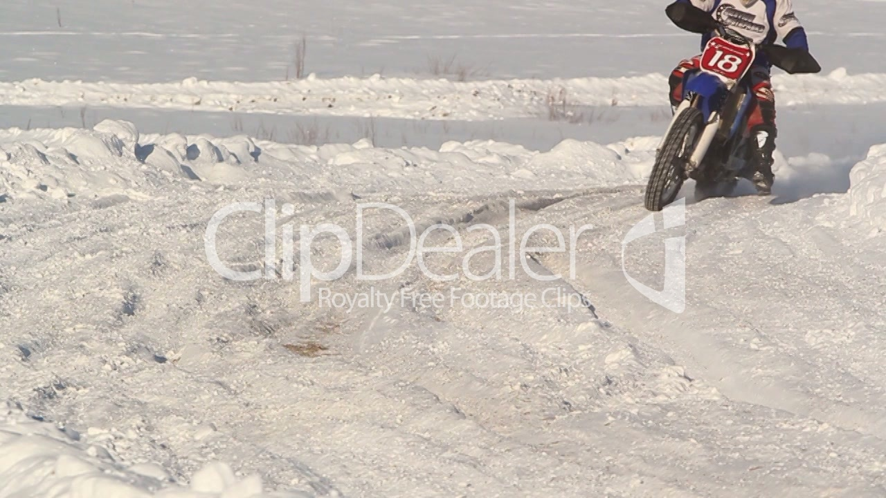Winter Motocross Crash Royalty Free Video And Stock Footage