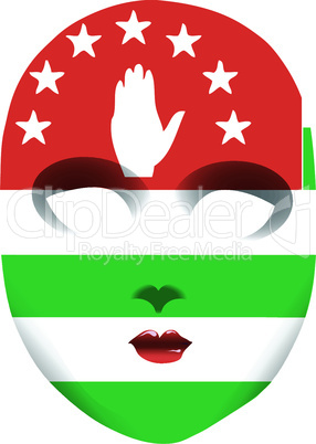 Classic mask Abkhazia