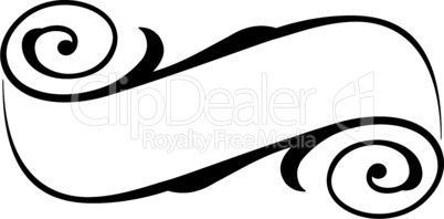 calligraphy ribbon frame banner black isolated