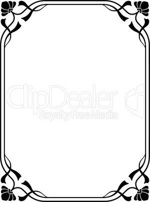 art nouveau modern ornamental decorative frame