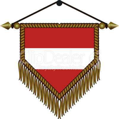 pennant with the national flag of Austria