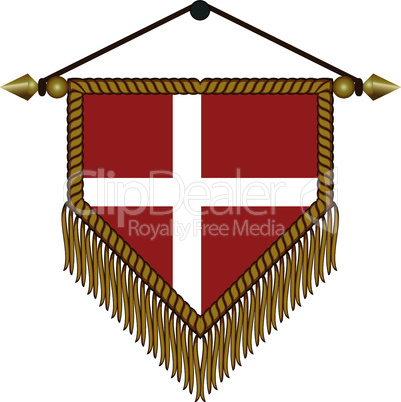 pennant with the national flag of Denmark