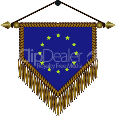 pennant with the national flag of European Union