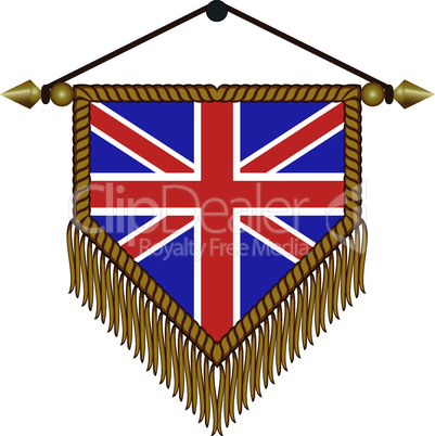 pennant with the national flag of Great Britain
