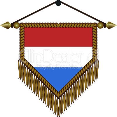 pennant with the national flag of Netherlands