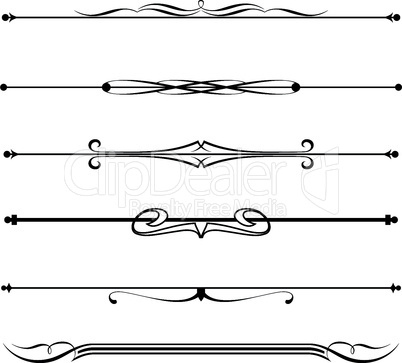 set of decorative divider, elements, border