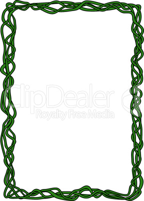 green abstract liana ornamental decorative frame