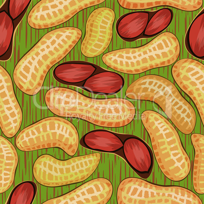 pod red peanuts seamless background pattern