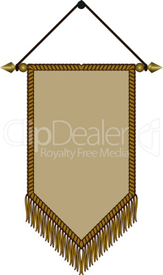 image of a pennant with gold fringe