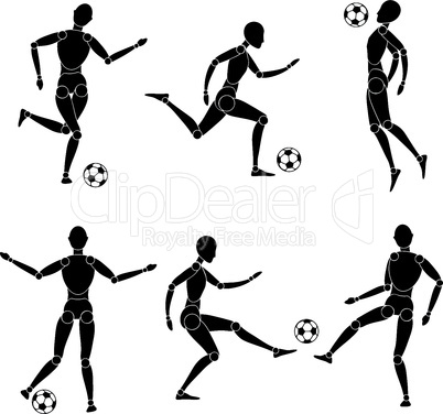 model man silhouette play with ball soccer football