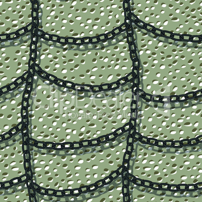 chain on wall seamless background pattern