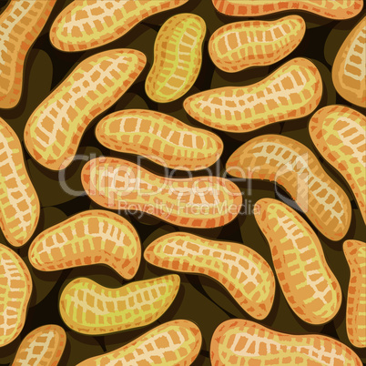 peanuts in pod seamless background pattern