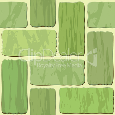 Seamless texture of different colors stonewall tile