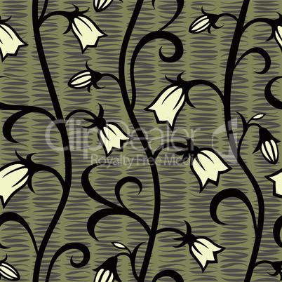 bells flowers seamless background pattern wallpaper