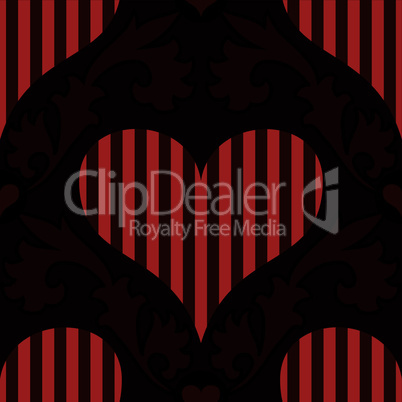 red striped heart seamless background wallpaper