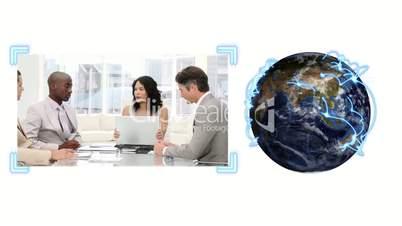 Globus und Businessclip