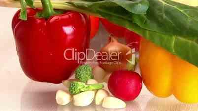 Vegetables, camera dolly