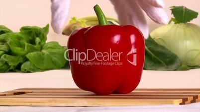 Red pepper, cut, 2 clips