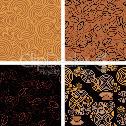 4 seamless pattern for Coffee style design