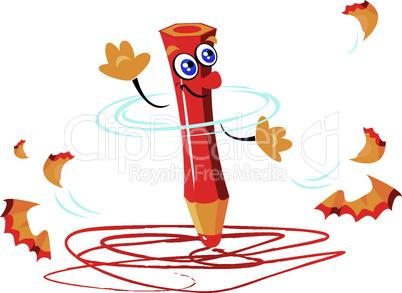 writing funny crazy red pencil cartoon
