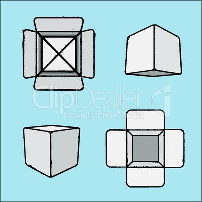 Vector set of stylish icons