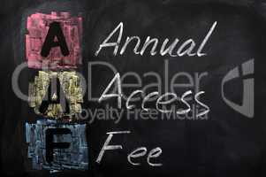 Acronym of AAF for Annual Access Fee