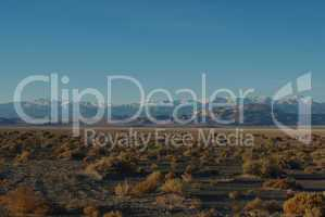 High desert and snow mountains, Nevada