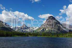 Lake near Many Glacier, Glacier National Park, Montana