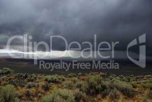 Approaching Nevada Desert Storm