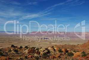 Rocks with Vermillion Cliffs view, Arizona