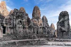 Ancient temple Prasat Bayon in Angkor complex
