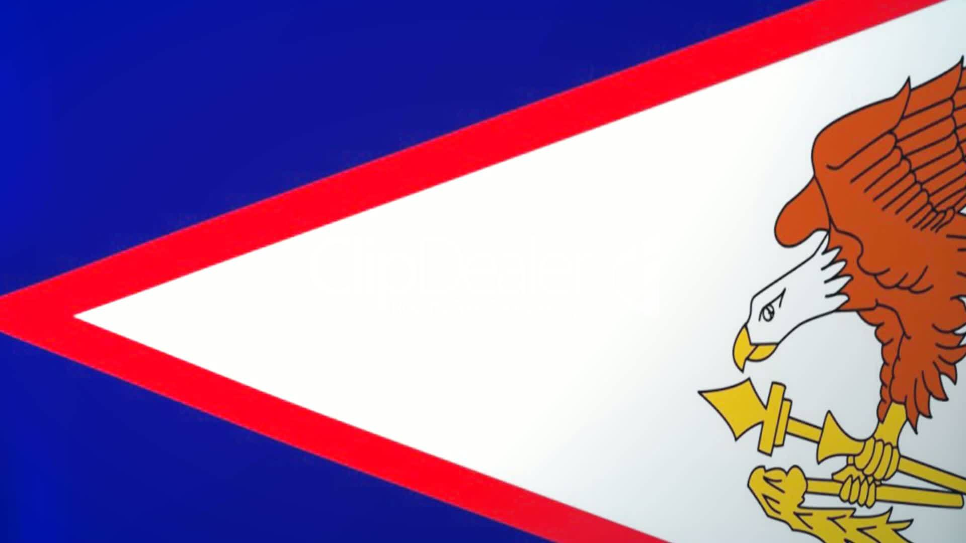 American Samoa Waving Flag Royaltyfree video and stock footage