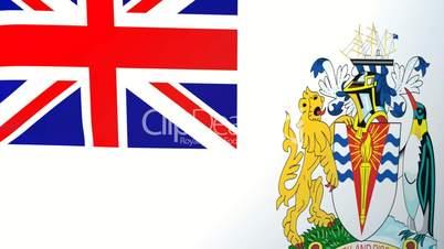British Antarctic Territory Waving Flag