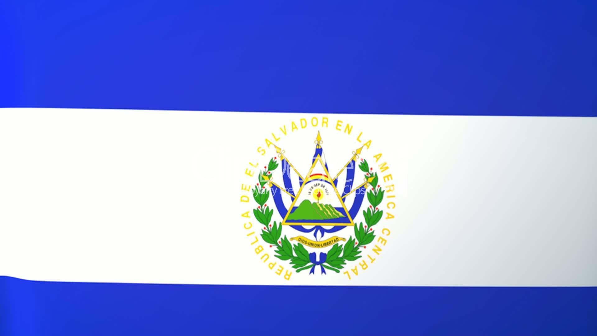 El Salvador Waving Flag: Royalty-free video and stock footage
