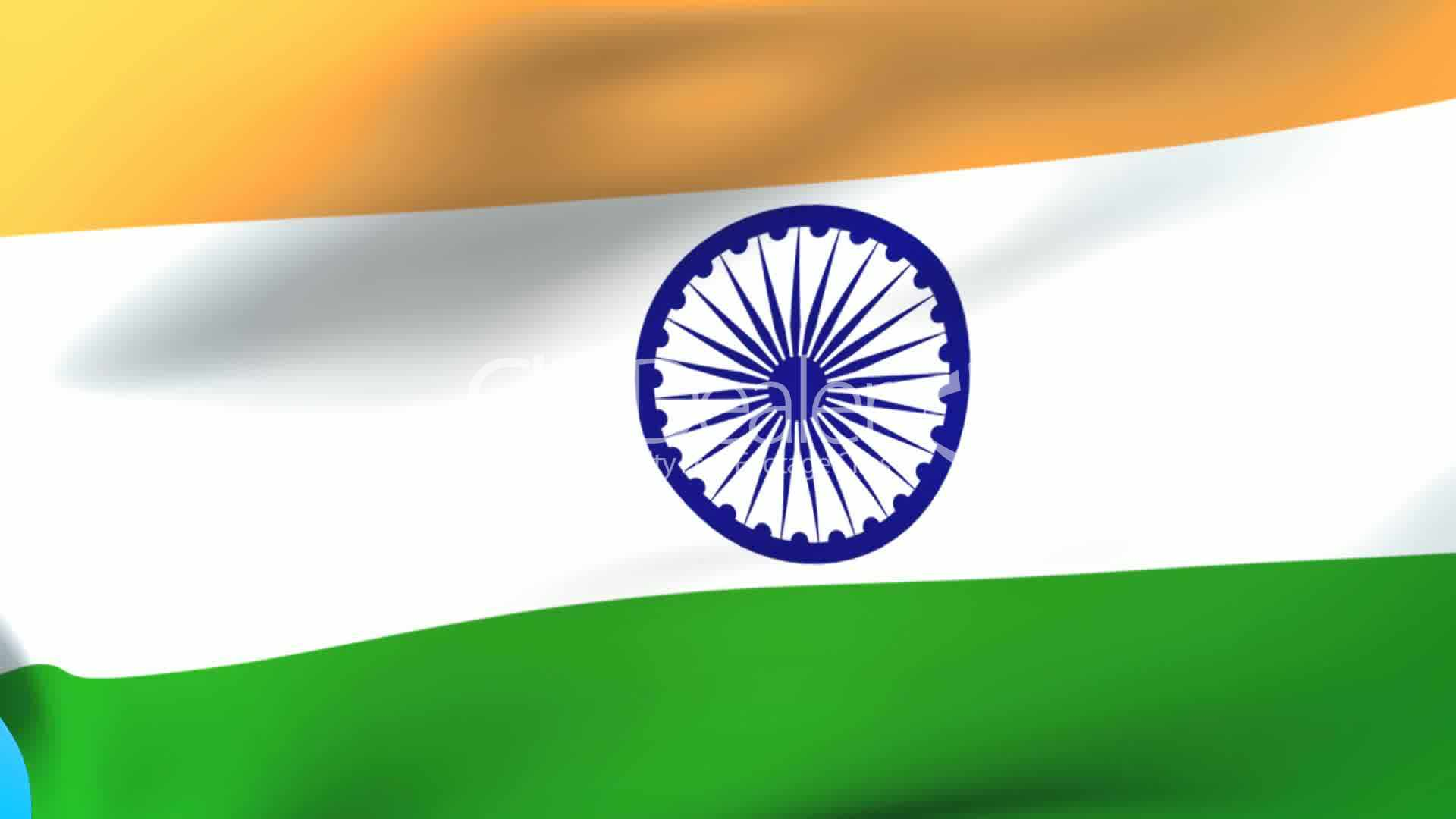 Indian Animated Flag Waving: India Waving Flag: Royalty-free Video And Stock Footage