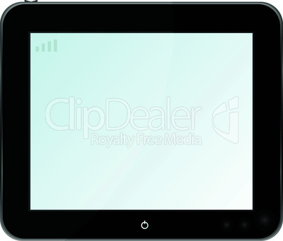 Blank digital PC tablet vector