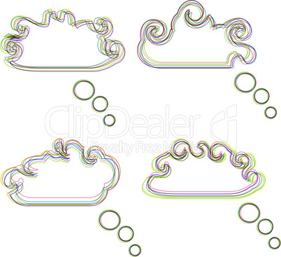 Speech bubbles abstract vector background