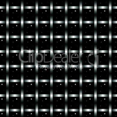 Woven metal seamless pattern. vector texture grid pattern