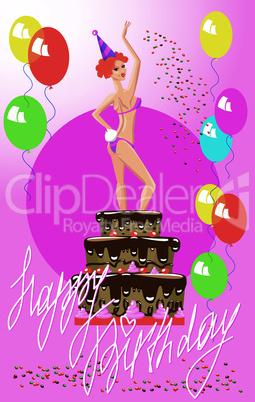 Girl in cake