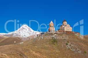 Mount Kazbek and Trinity Monastery, Georgia