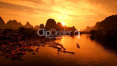 Yangshuo Sunset I